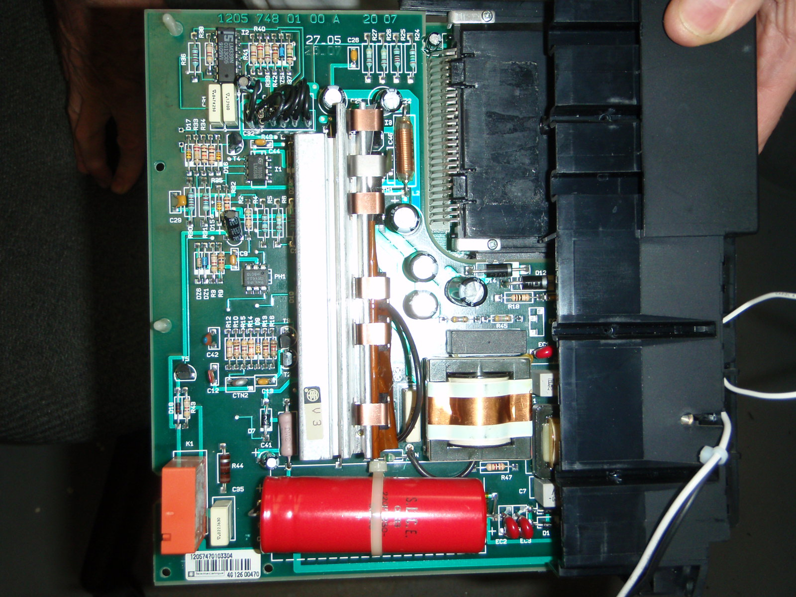 Telemecanique TSX27-20 power supply repair